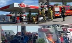 Pożar na stacji benzynowej