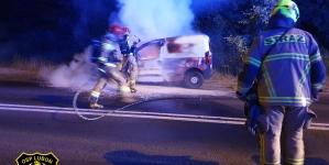 Pożar samochodu na Armii Poznań