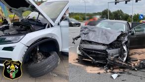 Wypadek na skrzyżowaniu Dębiecka / Armii Poznań