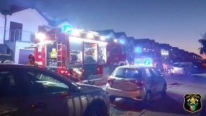Pożar piekarnika w budynku jednorodzinnym